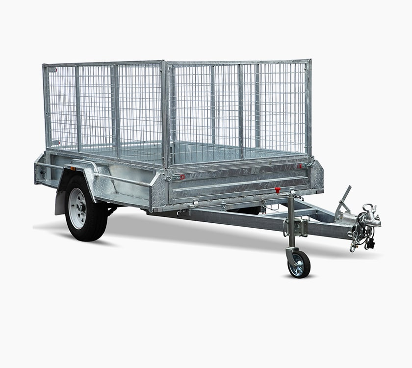 Heavy Duty Single Axle Box Trailers